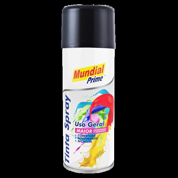 Tinta Spray 200ml Mundial Prime UG Preto Brihante  AE01000089 - Aeroflex